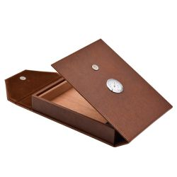 Настраиваемые специальной бумаги из натуральной кожи серого Совета Pacakging сигарный Подарочная упаковка