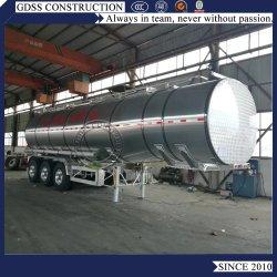 Três eixos o transporte do leite do tanque de alumínio veículo semi reboque