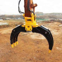 Высокая скорость РЕПО OEM заводская цена 360 оснащены вращающимся гидравлического экскаватора рок-Log захват