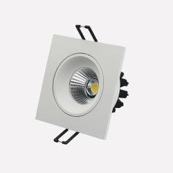 5W ajustable 7W 3000K de 20 grados de atenuación del Triac Recssed LED cuadrado COB Spotlight para Coffee House