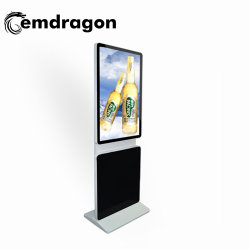 바닥 스탠딩 회전 스튜디오용 32인치 방송 비디오 월 LCD Totem Insurance Company 디지털 광고 화면 LCD 디지털 사이니지