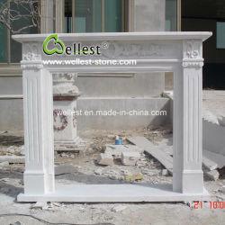 Blanco/Negro/Rojo/amarillo/beige de piedra caliza y mármol travertino y/o de piedra arenisca Granito/Onyx/ Chimenea mantel para la decoración de interiores