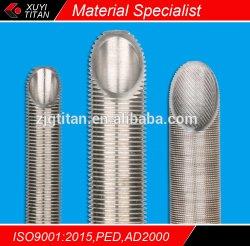 Tubo di aletta basso di titanio per il condensatore