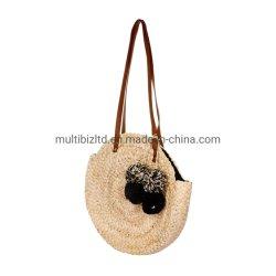 卸し売り良質の浜袋のわらのバスケットのわらの袋のわらの袋の女性 女性用ハンドバッグ