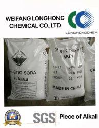 大きい輸出量の水酸化ナトリウム/腐食性ソーダは織物および染まる企業CAS 1310-73-2年で使用される99%を真珠で飾る