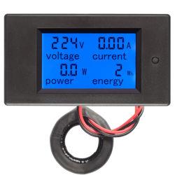 Однофазного переменного тока 100A 4в1 Напряжение питания ток энергии цифровой измеритель мощности