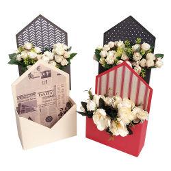 Logotipo padrão de papel personalizado impresso na caixa de envelope de papelão rígidas para embalagem de flores Caixa de oferta