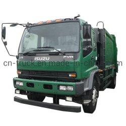 Isuzu 12cbm 10 cbm 12 toneladas de basura pala trasera de camiones compactadores de basura