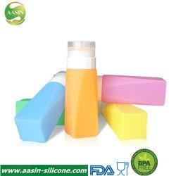 Les bouteilles de silicone clair cosmétiques Tubes de voyage à l'emballage