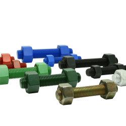 ASTM A193 مسمار مسامير التثبيت B7 مع سداسي ASTM A194 2H الصواميل