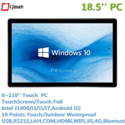 18,5 Zoll Cjtouch Touch Monitor mit Pcap Tablet Industrie-PC Intel i3 i5 i7 4G RAM 128 g SSD
