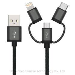 multi Funktion 3 der Handyzubehör in 1 Blitzkabel für Handy, Kabel USB-c, Mikrokabel, Blitzkabel