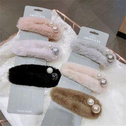 2018 Commerce de gros cadeau de promotion des jeunes filles de personnaliser la mode d'un sèche cheveux Accessoires Bijoux Broche fleur en Cristal Perle Hairclip Leopard pour les femmes
