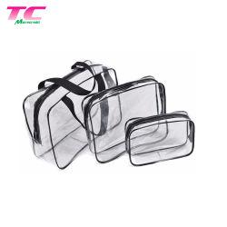 Caso impermeabile portatile dell'organizzatore del PVC di trucco dei sacchetti di corsa del sacchetto cosmetico libero dell'articolo da toeletta per gli uomini