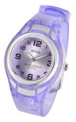 Kid Reloj analógico de cuarzo resistente al agua de colores de moda