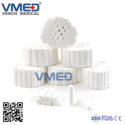 100%の未加工綿の医学の製品供給の綿のガーゼロール製造業者、吸収性の医薬品の使い捨て可能な製品の歯科綿ロールスロイス、
