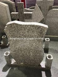 式のための簡単なヨーロッパの花こう岩の墓碑の墓石
