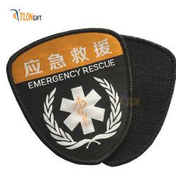 새로운 맞춤형 고품질 면 자수 경찰복 의류용 라펠 핀