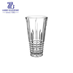 Элегантный стеклянный ваза с режущей дизайн горячие продажи ясно Свадебный букет из стекла вазы с шток клапана большое здание интерьер подарок (ГБ1587FH-1)