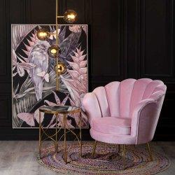 シェルの居間のための整形肘掛け椅子のピンクのビロードファブリック1 Seaterのソファー