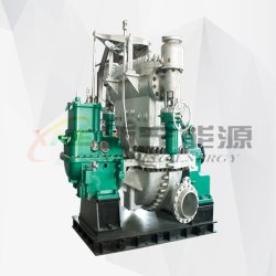 Enkellaagse verpakte impulse stoomturbine/tegendrukturbine