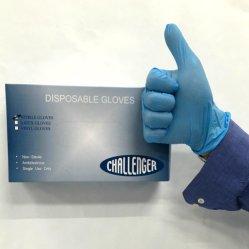 Azul guantes desechables de vinilo pelo teñido de guantes de protección del hogar