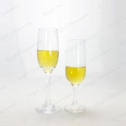 Commerce de gros clair Champagne Sherry Tall tasse en verre de vin rouge