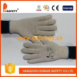 Étoffes de bonneterie de coton naturel de haute qualité de l'acrylique gants de sécurité