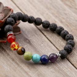 La moda biselado Cristal Piedras Preciosas Joyas de piedras preciosas Pulseras con encanto