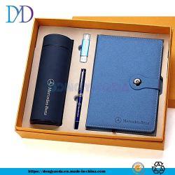 Reeks de van de bedrijfs douane van de Gift, VacuümFles, de Pen van het Metaal en USB en Notitieboekje