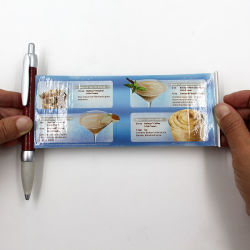 Tirez sur la bannière stylo plume cadeau de promotion du drapeau de la papeterie personnalisée