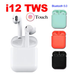J'ai12 TWS Commande tactile Mini 1 : 1 gousses d'air oreillettes sans fil Bluetooth 5.0 vs I10 I11 TWS