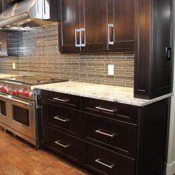 American Modern White Espresso Shaker Solid Wood Kitchen Cabinets
