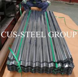 La qualité commerciale du fer galvanisé feuille/Bright recouvert de zinc métal tuile de toit