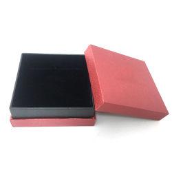 La pantalla de terciopelo Flannelette forma octogonal de joyas de cuero caja de almacenamiento de anillo