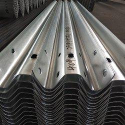 Piatto galvanizzato fascio della barriera di sicurezza della strada della barriera di traffico della guardavia della strada principale di W