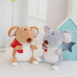 مصنع سعر جيد فأر صينى بالعام الجديد ماسكوت محشو وثير لعب الفئران للبيع