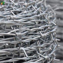 O fio de aço galvanizado médios quente barreira militar Preço de arame farpado por rolo
