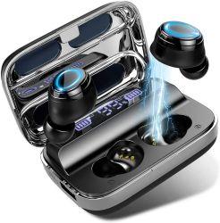 Dlpo Sport auriculares Bluetooth 5.0, Tws melhores esportes Wiless qualidade de som estéreo para fones de ouvido Bluetooth fones de ouvido com display LED, Cancelamento de Ruído ouvido