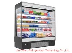 열려있는 작풍 냉각장치 전시 최고 시장 찬 진열장 급속 냉동 냉장실 냉장고 냉각 장비