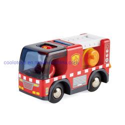 Смешные Fire погрузчика с сиреной деревянные игрушки для детей