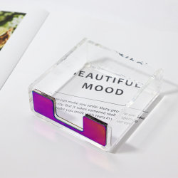사무실 테이블 편지지 종이 스티커 노트 패드 홀더 아크릴 카드 홀더가 컬러풀합니다