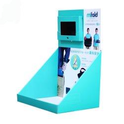 Visor de papelão para tela Telefone celular Desktop Display com ganchos de suporte