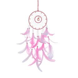 Métiers de plumes Dream Catcher Brown Wind carillons Handmade Indian Dreamcatcher Filet pour cadeau mural