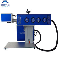 Draagbare Synrad Davi RF metalen buis 20 W 30 W 60 W 100 W. CNC CO2 Galvo Laser Marking Snijmachine voor hout Plastic leer