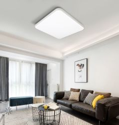 Высокое качество современный интерьер офиса опоры маятниковой подвески поверхностного висящих квадратные Плоские светодиодные панели освещения