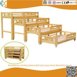 Het Speciale Bed van de Kinderen van de kleuterschool Lade van het Bed van Vier Laag de Stevige Houten