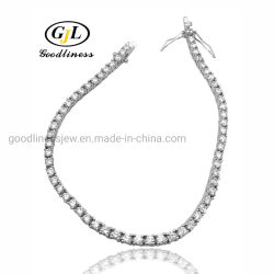 De gros de bijoux en argent personnalisé Fashion Tennis de la chaîne de bracelets pour les femmes