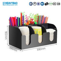 Heavybao Paper Cup Storage Rack Tissue Dispenser Staw Organizer for 커피숍