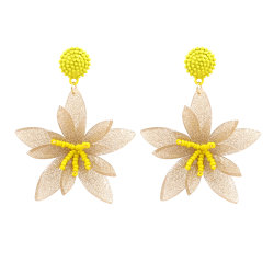 水晶によってはビードの芽のアクリル樹脂の女性宝石類のイヤリングのハンドメイドのギフトの耳リングが開花する